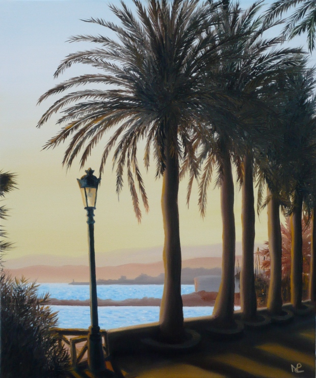 Seascape IV: Marbella (2008 © Nicholas de Lacy-Brown, oil on canvas)