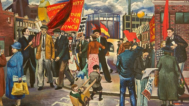 Clive Branson, Demonstration in Battersea (1939)