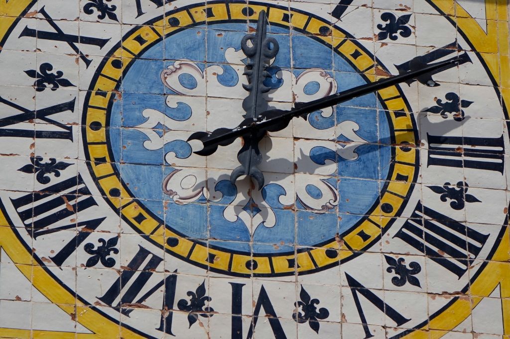 The famous clock of Capri's main piazza
