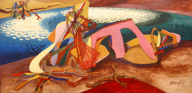 Stanley William Hayter, Paysage Anthropophage (Man-eating landscape) (1938)