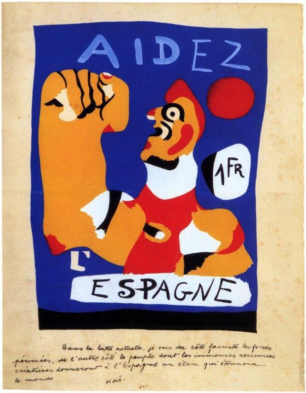 Joan Miro, Aidez L'Espagne (Help Spain) (1937)