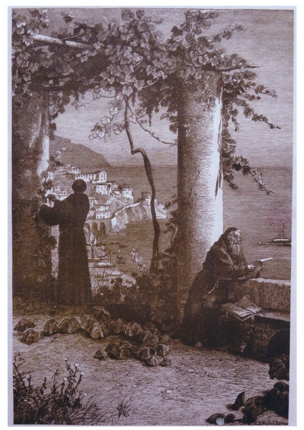 The original engraving we purchased in Amalfi (c. 1880, artist unknown)