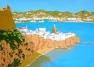 Interpretation No. 13 - Ibiza Town (2015 © Nicholas de Lacy-Brown, gouache on paper)