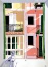 Ocho Balcones, No.5: The Summer Bathroom (2015 © Nicholas de Lacy-Brown, gouache on paper)