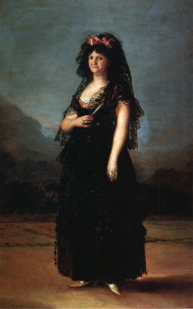 Maria Luisa wearing a Mantilla, 1799