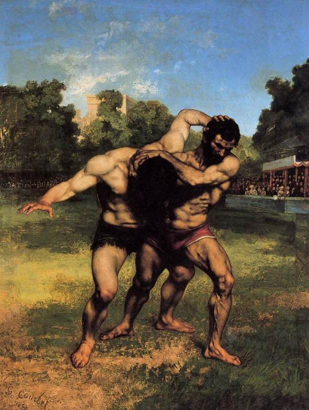 Gustave_Courbet_-_The_Wrestlers_-_WGA5462