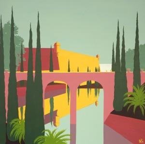 Paseo Mallorca painting