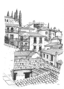 my granada sketchbook rooftops of the albayzín the daily norm