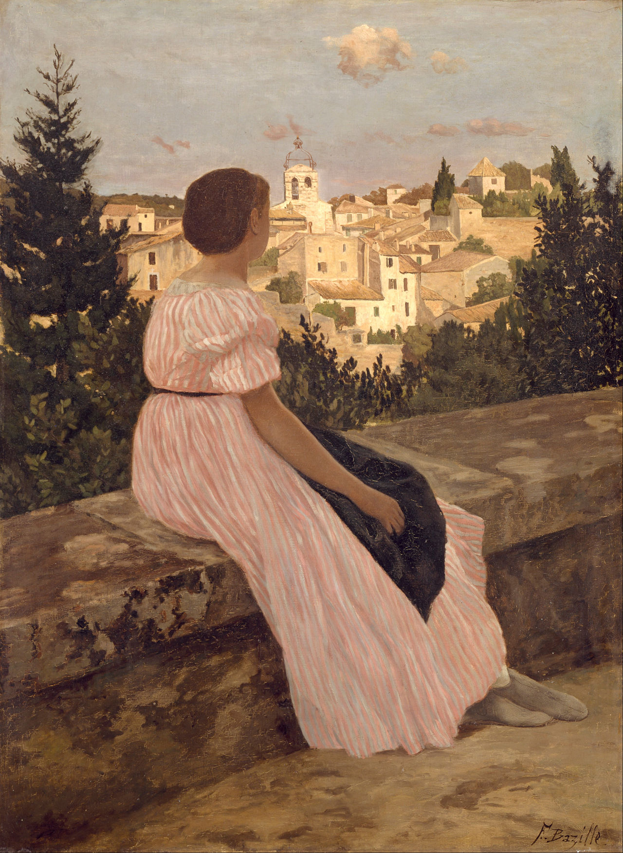 frederic_bazille_-_the_pink_dress_-_google_art_project