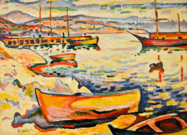 Georges Braque - The Port of L'Estaque, 1906 at Summerset House London England