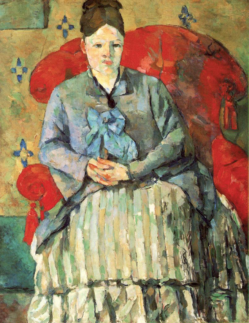 Madame Cézanne in a Red Armchair 1877