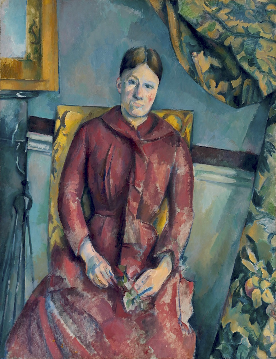 Madame Cézanne (Hortense Fiquet, 1850–1922) in a Red Dress