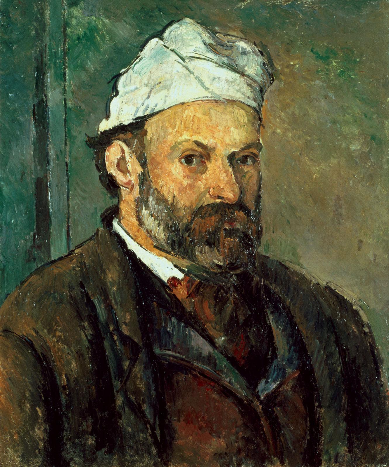 Self Portrait in a white bonnet 1881-2
